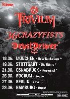 Trivium, 36 Crazyfists, Devildriver