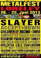 Metalfest Open Air - Metalfest 2013 auf der Loreley - Die Running Order steht