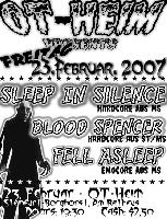 sleep in silence, blood spencer, fell asleep