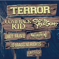 """Terror, Comeback Kid, Stick To Your Guns, More than a thousand, Obey the Brave - """"NEVER SAY DIE!"""" Tour 2014"""